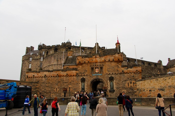 The main entrance to Edinburgh Castle.