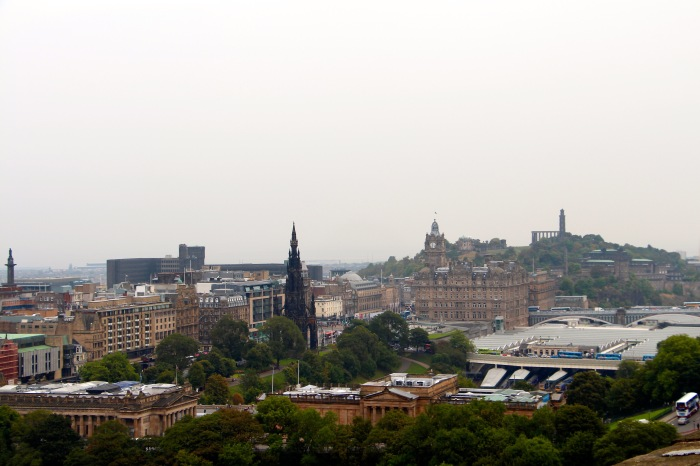 Views of Edinburgh from Edinburgh Castle.