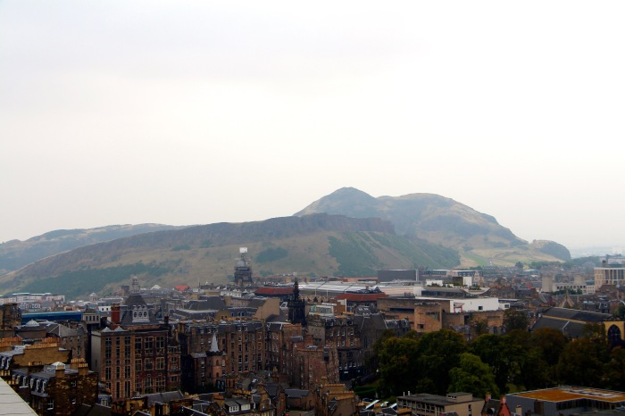 Edinburgh, with Arthur's seat looming in the horizen.