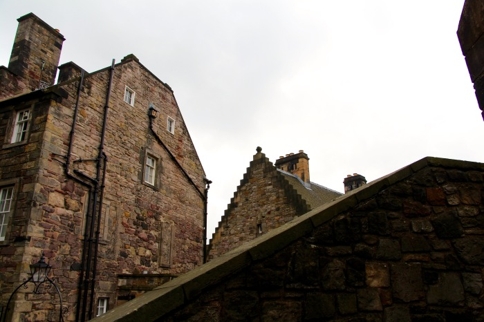 Edinburgh Castle rooftops.